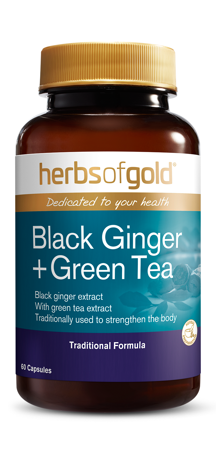 Black Ginger + Green Tea